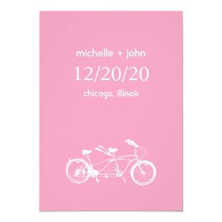 Bicicleta construída para as economias dois a data convite 12.7 x 17.78cm