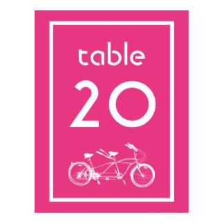 Bicicleta construída para dois números da mesa (ro cartoes postais