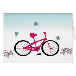 Bicicleta cor-de-rosa