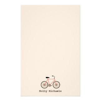 Bicicleta cor-de-rosa artigos de papelaria