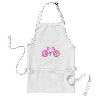 Bicicleta cor-de-rosa aventais