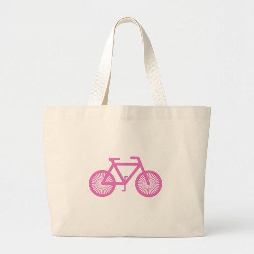 Bicicleta cor-de-rosa bolsas