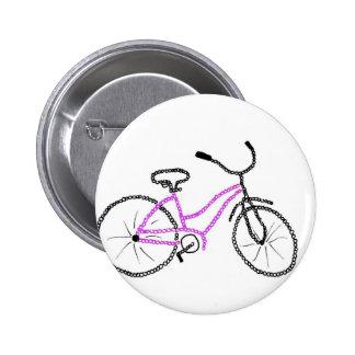 Bicicleta cor-de-rosa boton