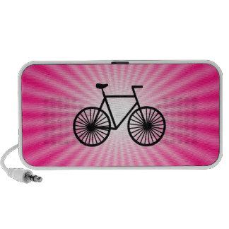 Bicicleta cor-de-rosa caixinha de som para laptop