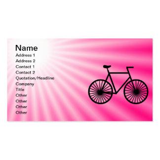 Bicicleta cor-de-rosa cartões de visita