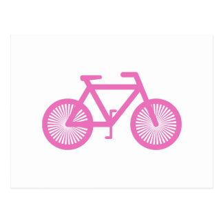 Bicicleta cor-de-rosa cartao postal