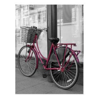 Bicicleta cor-de-rosa cartoes postais