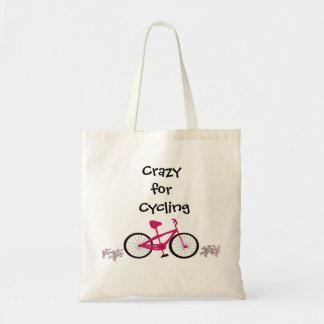Bicicleta cor-de-rosa com provérbio bonito bolsas