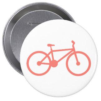 Bicicleta cor-de-rosa coral boton