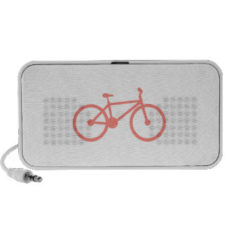 Bicicleta cor-de-rosa coral caixinhas de som para pc