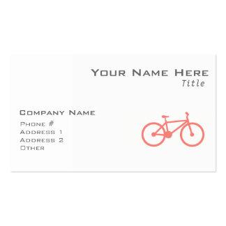 Bicicleta cor-de-rosa coral cartão de visita