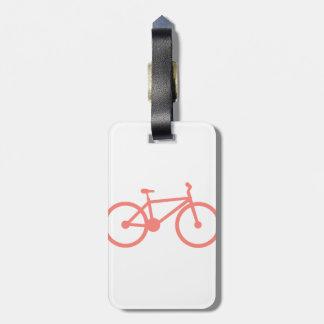 Bicicleta cor-de-rosa coral etiquetas para malas de viagem