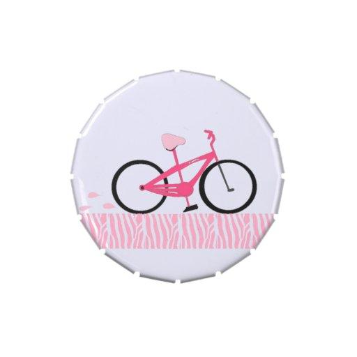 Bicicleta cor-de-rosa latinhas mint to be