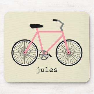Bicicleta cor-de-rosa Mousepad personalizado