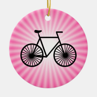 Bicicleta cor-de-rosa ornamentos para arvore de natal