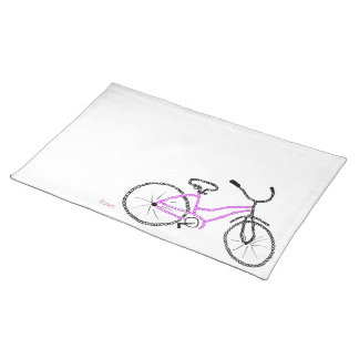 Bicicleta cor-de-rosa suporte para prato