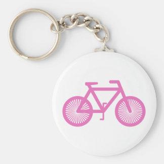 Bicicleta cor-de-rosa chaveiros