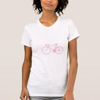 Bicicleta cor-de-rosa camisetas