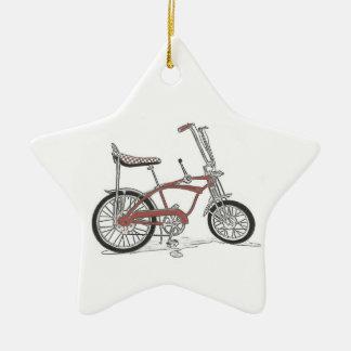 Bicicleta da bicicleta do músculo da arraia-lixa ornamento de cerâmica estrela