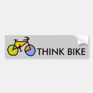 bicicleta da cor adesivo para carro