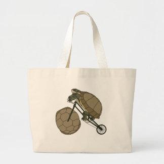 Bicicleta da equitação da tartaruga com rodas da bolsa tote grande