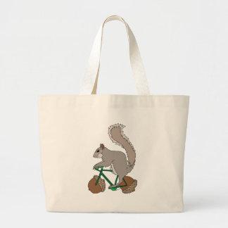Bicicleta da equitação do esquilo com rodas da bolsa tote grande
