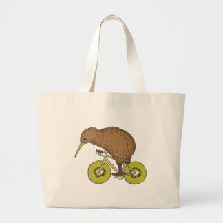 Bicicleta da equitação do quivi com rodas do quivi sacola tote jumbo
