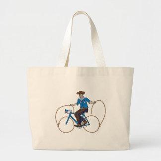 Bicicleta da equitação do vaqueiro com rodas do bolsa tote grande