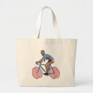 Bicicleta da equitação do zombi com rodas do bolsa tote grande