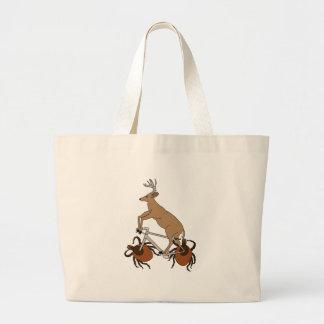 Bicicleta da equitação dos cervos com as rodas do sacola tote jumbo