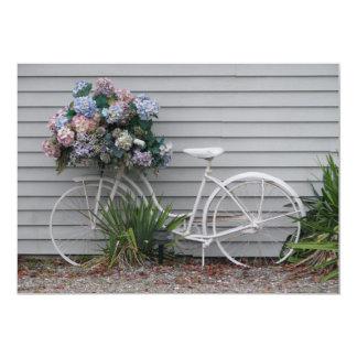 Bicicleta da praia convite 12.7 x 17.78cm