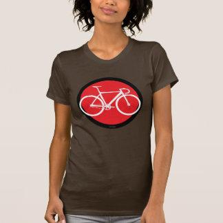 Bicicleta da trilha - ponto vermelho t-shirt