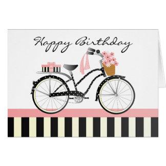 Bicicleta das bolinhas cartao