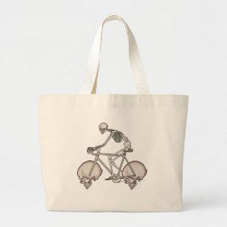 Bicicleta de esqueleto da equitação com rodas do bolsa tote grande