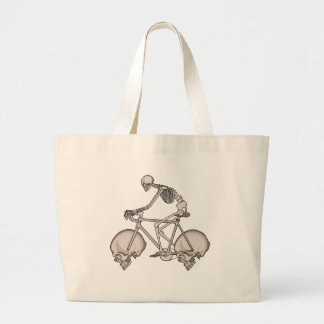 Bicicleta de esqueleto da equitação com rodas do sacola tote jumbo