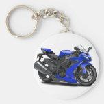 Bicicleta do azul de Ninja Chaveiros