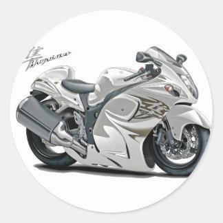 Bicicleta do branco de Hayabusa Adesivos Redondos