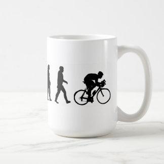 bicicleta do ciclismo do ciclista da evolução caneca de café