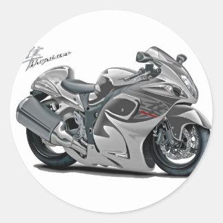 Bicicleta do cinza de Hayabusa Adesivos Redondos