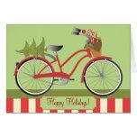 Bicicleta do feriado cartoes