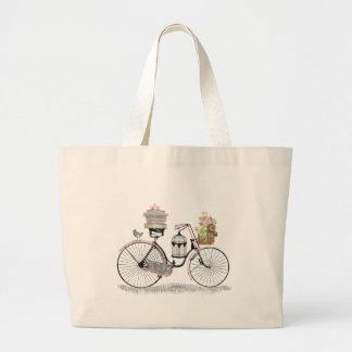Bicicleta do impulso da fantasia bolsa tote grande