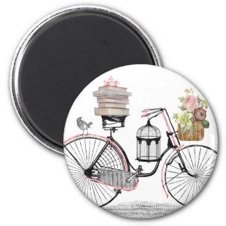 Bicicleta do impulso da fantasia imas de geladeira