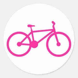 Bicicleta do rosa quente; bicicleta adesivo redondo