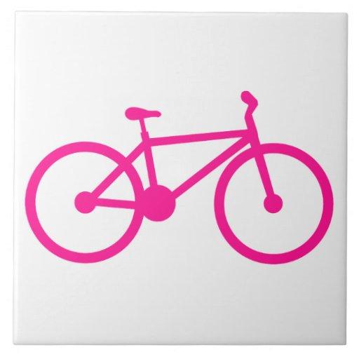 Bicicleta do rosa quente; bicicleta azulejo de cerâmica
