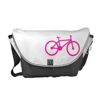 Bicicleta do rosa quente; bicicleta bolsas mensageiro