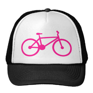 Bicicleta do rosa quente; bicicleta boné