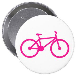 Bicicleta do rosa quente; bicicleta boton