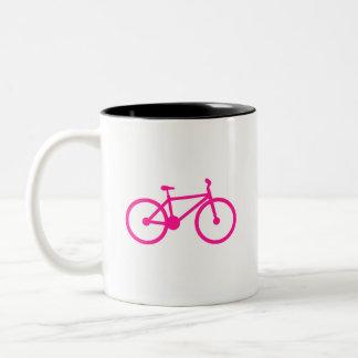 Bicicleta do rosa quente bicicleta caneca