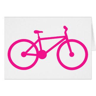 Bicicleta do rosa quente bicicleta cartao