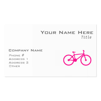 Bicicleta do rosa quente; bicicleta cartao de visita